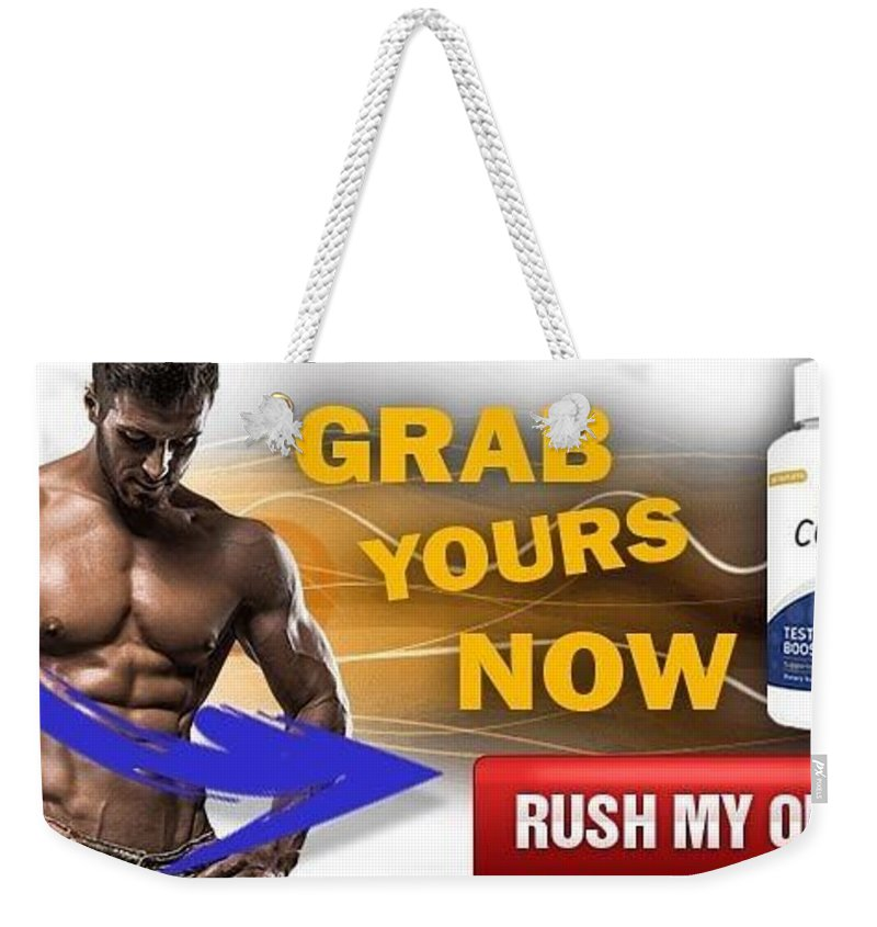 Copula Testosterone Boost Weekender Tote Bag featuring the mixed media Copula Testosterone Boost by Copula Testosterone Boost