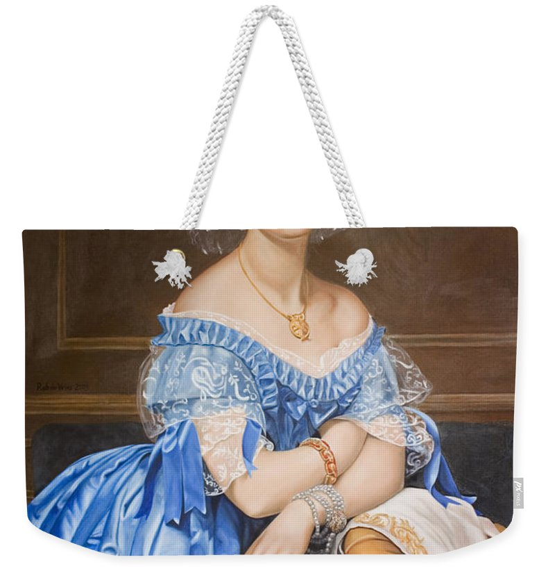 Ingres Weekender Tote Bag featuring the painting Copy After Ingres by Rob De Vries