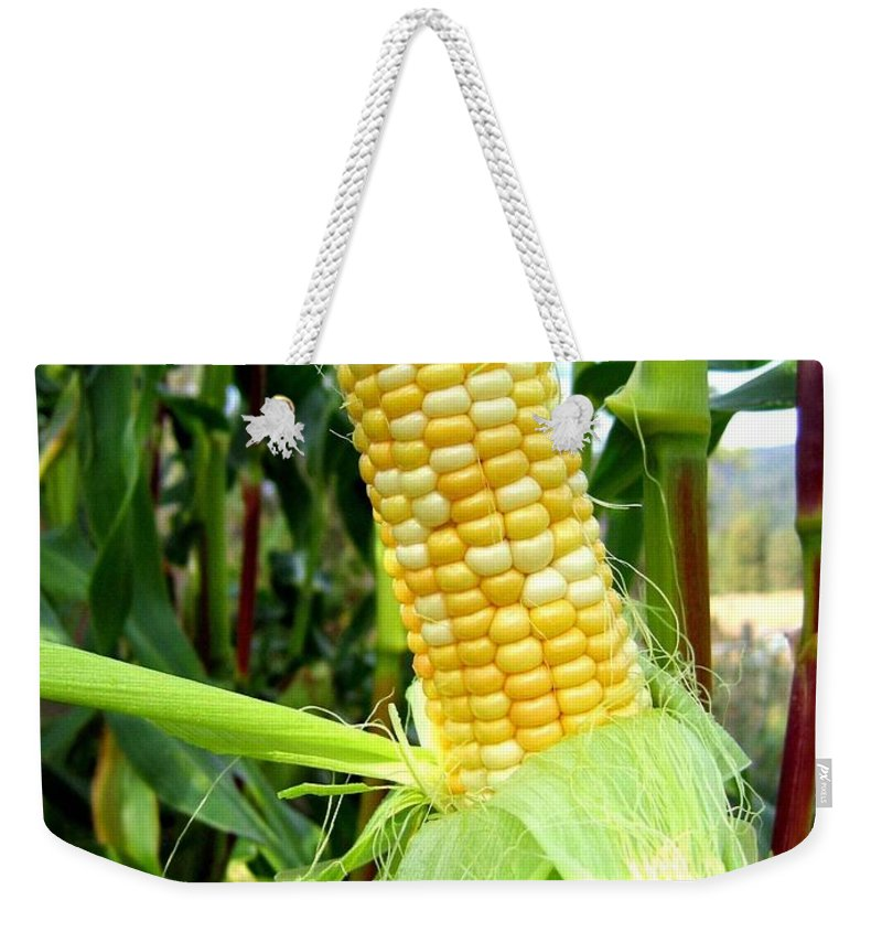 Corn Weekender Tote Bag featuring the photograph Corn On The Cob by Will Borden