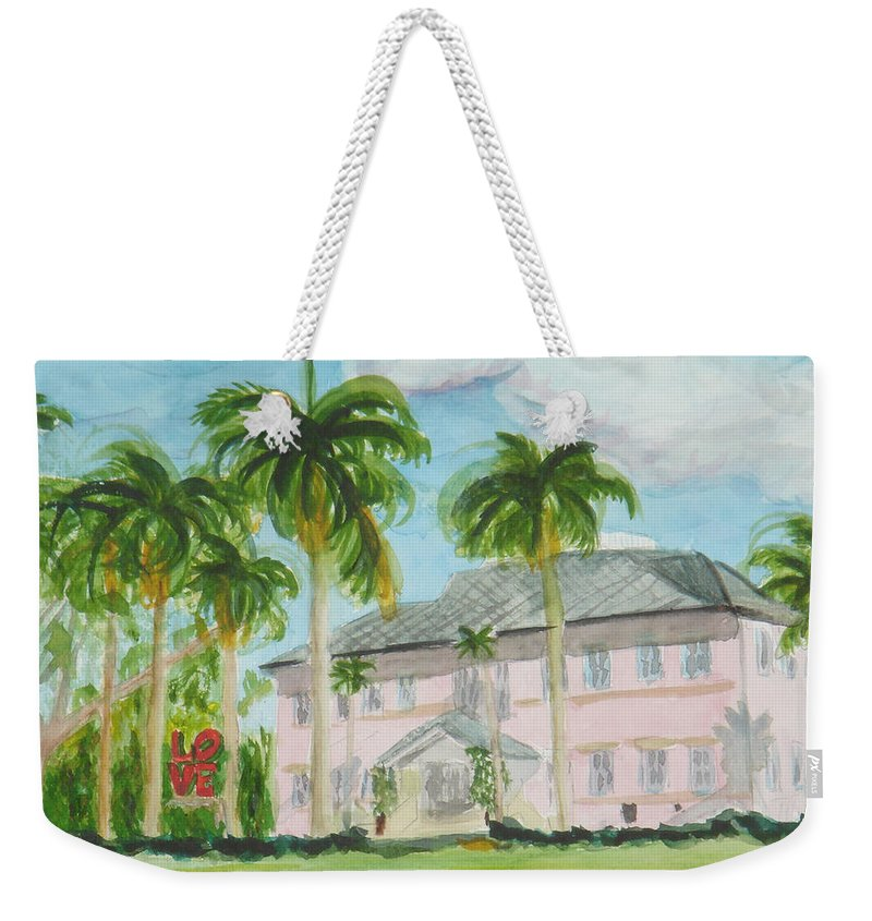 Cornell Museum Weekender Tote Bag featuring the painting Cornell Museum by Donna Walsh