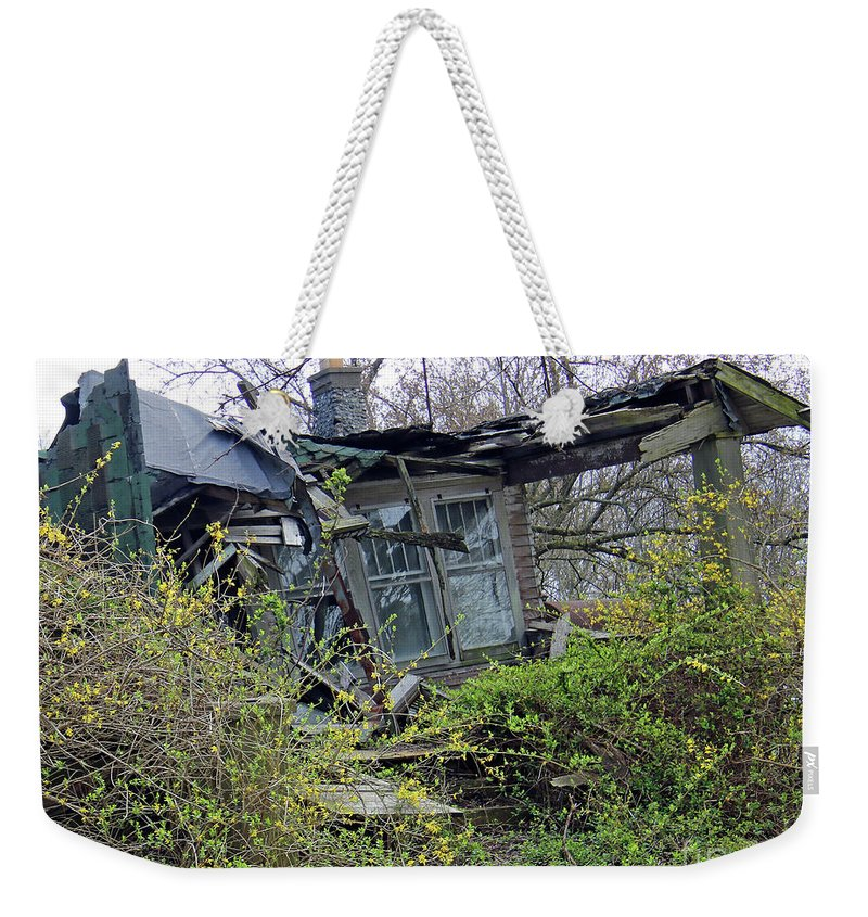 Abandoned Weekender Tote Bag featuring the photograph Corner House by Steve Gass