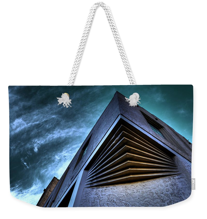 Architecture Weekender Tote Bag featuring the photograph Corner Shot by Wayne Sherriff