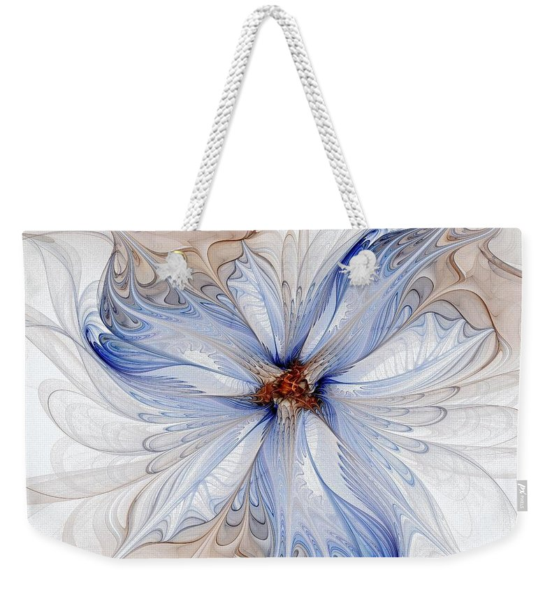Digital Art Weekender Tote Bag featuring the digital art Cornflower Blues by Amanda Moore