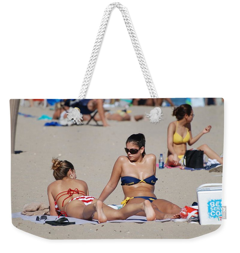 Girls Weekender Tote Bag featuring the photograph Corona Strips by Rob Hans