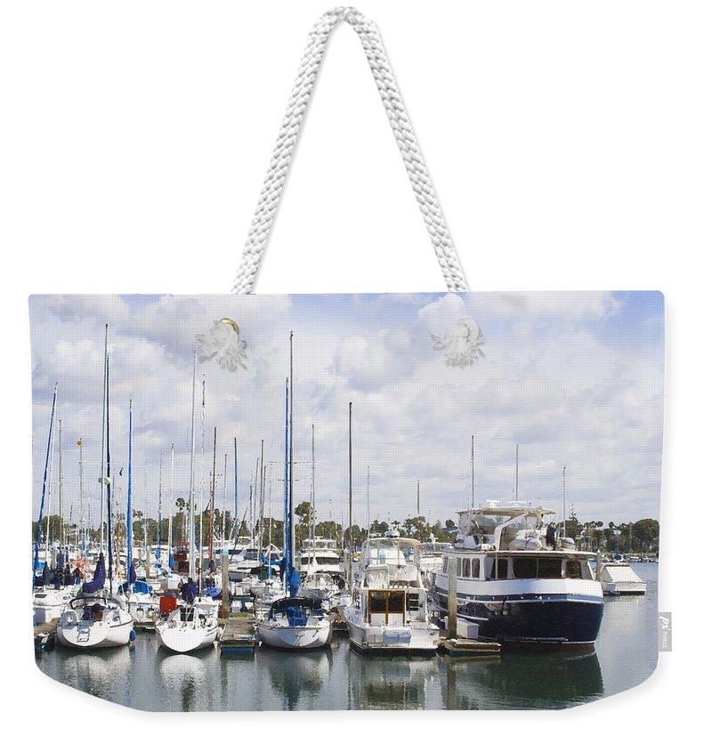 Coronado Weekender Tote Bag featuring the photograph Coronado Boats II by Margie Wildblood