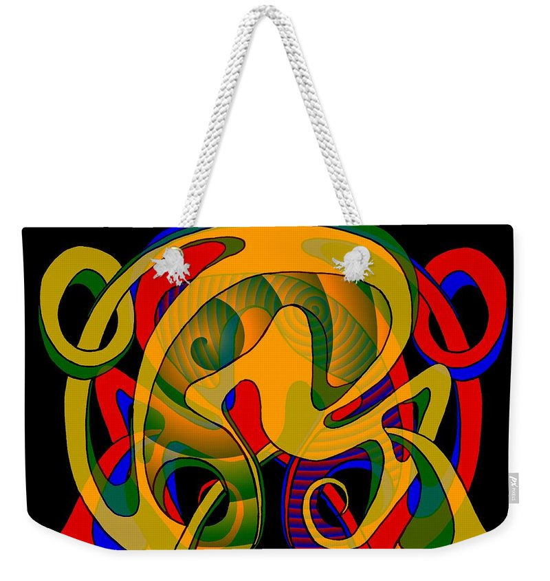 Life Weekender Tote Bag featuring the digital art Corresponding Independent Lifes by Helmut Rottler