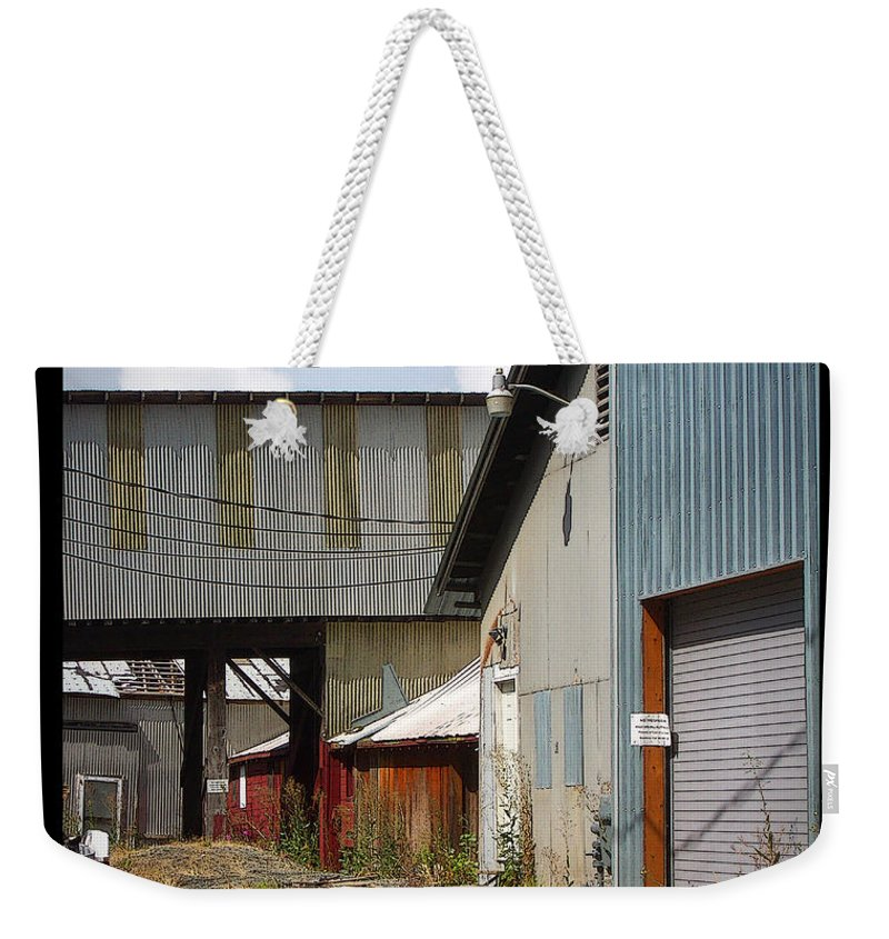 Corrugated Weekender Tote Bag featuring the photograph Corrugated by Tim Nyberg