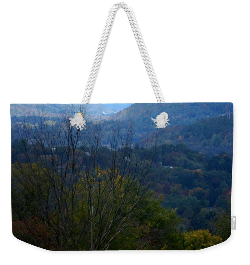 Digital Photograph Weekender Tote Bag featuring the photograph Cortland Ny by David Lane