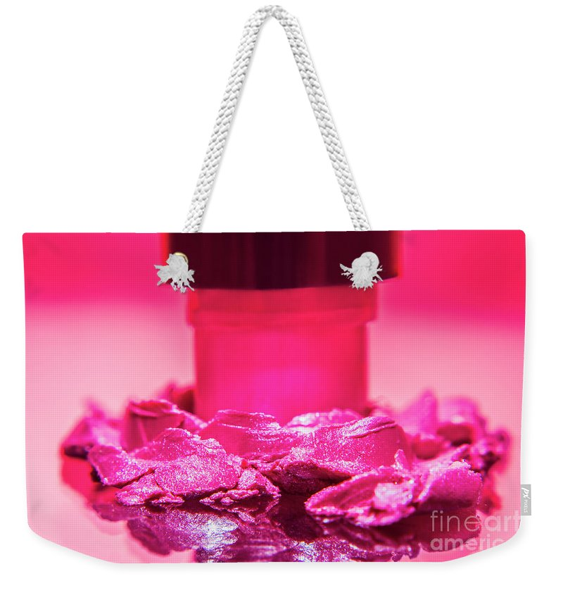 Beauty Weekender Tote Bag featuring the photograph Cosmetic Impact by Jorgo Photography - Wall Art Gallery