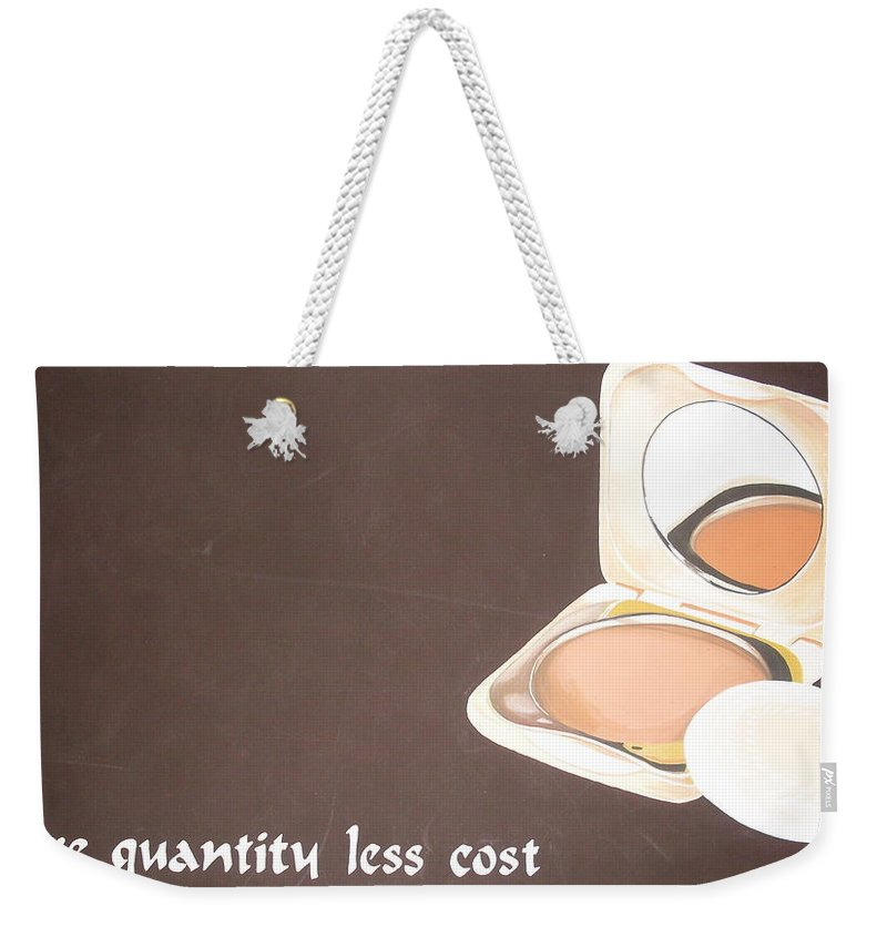 Paintings Weekender Tote Bag featuring the painting Cosmetics Advert by Olaoluwa Smith