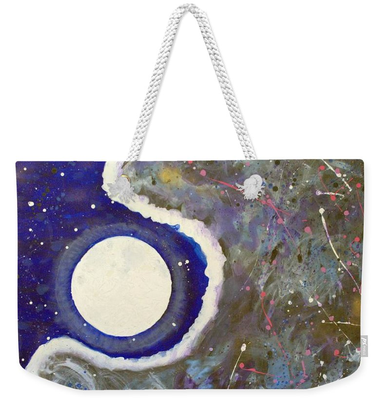 Impressionist Painting Weekender Tote Bag featuring the painting Cosmic Dust by J R Seymour
