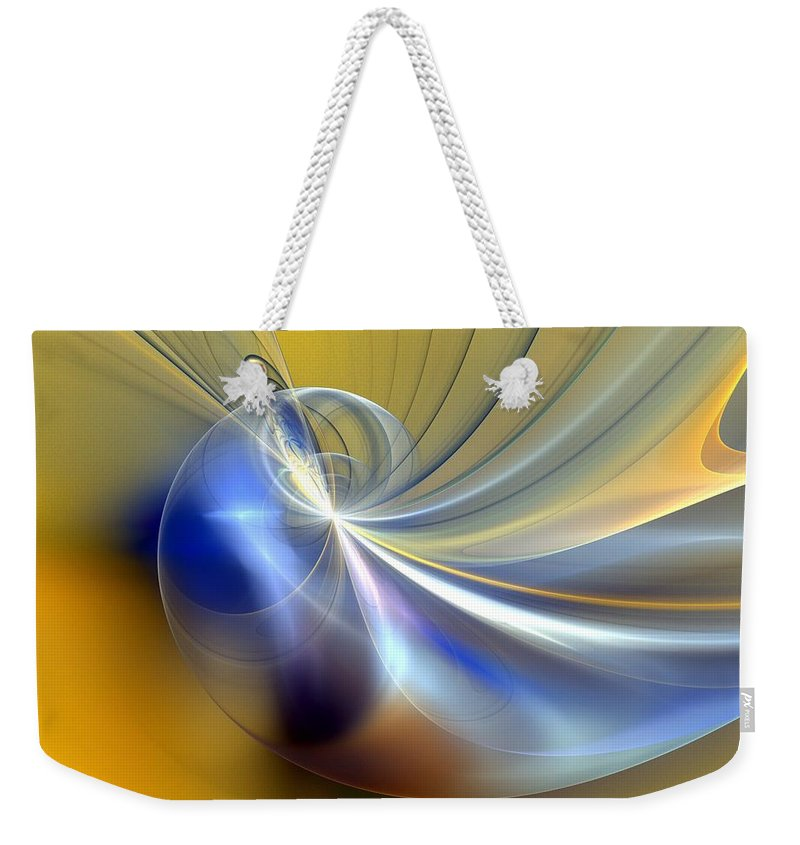 Digital Painting Weekender Tote Bag featuring the digital art Cosmic Shellgame by David Lane