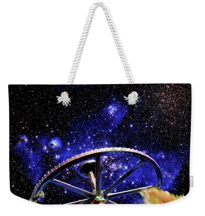 Bodie Weekender Tote Bag featuring the photograph Cosmic Wheel by Jim And Emily Bush