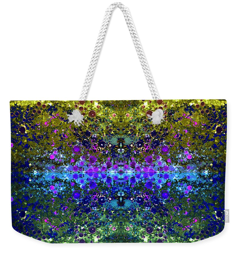 Abstract Weekender Tote Bag featuring the photograph Cosmos Crown Jewels 2 by Angelina Vick