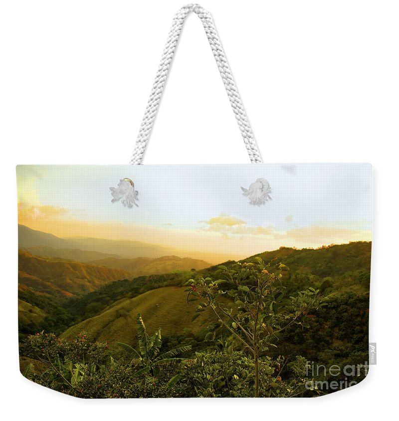 Costa Rica Weekender Tote Bag featuring the photograph Costa Rica Rolling Hills 2 by Madeline Ellis