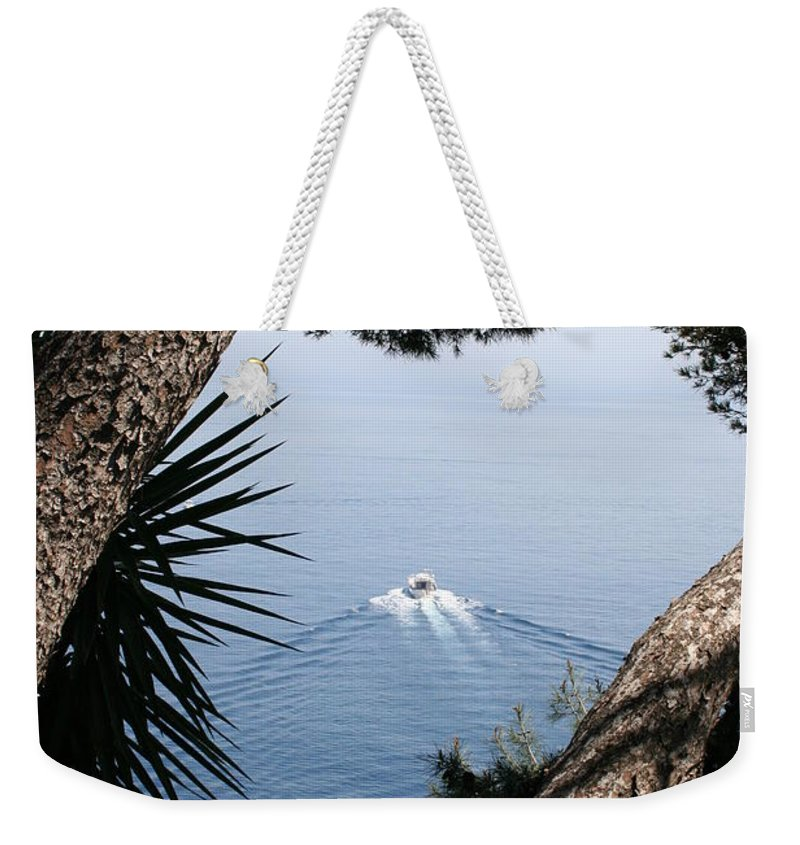 Sea Weekender Tote Bag featuring the photograph Cote D Azur by Christiane Schulze Art And Photography