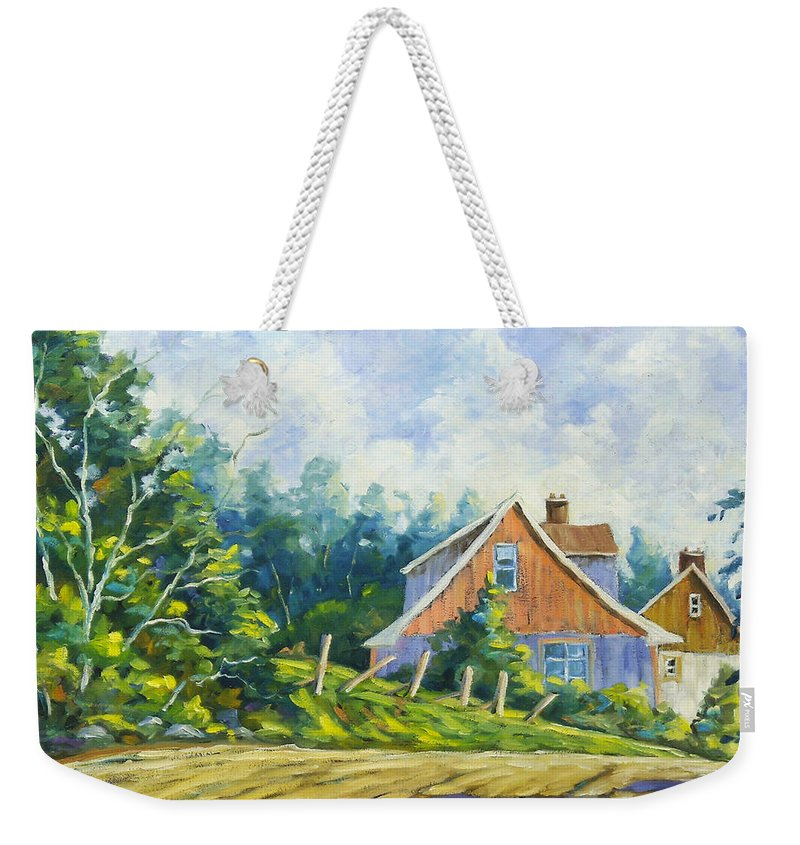 Art Weekender Tote Bag featuring the painting Cote Ste Anne De Beaupre by Richard T Pranke