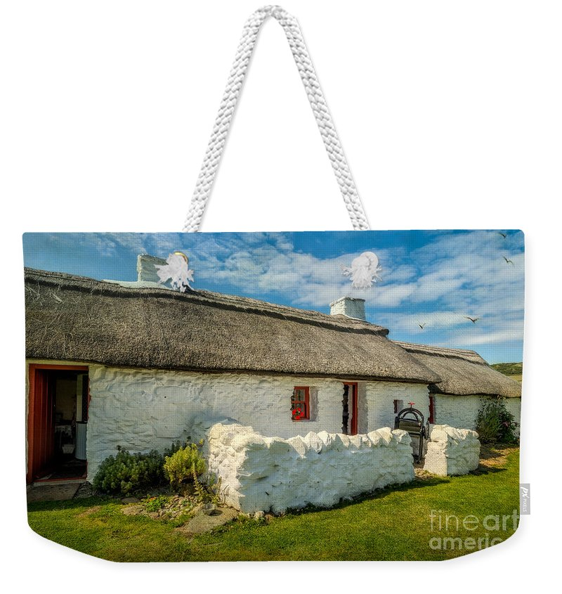 Cottage Weekender Tote Bag featuring the photograph Cottage In Wales by Adrian Evans