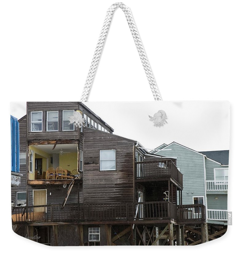 Topsail Weekender Tote Bag featuring the photograph Cottages Of The Past by Betsy Knapp