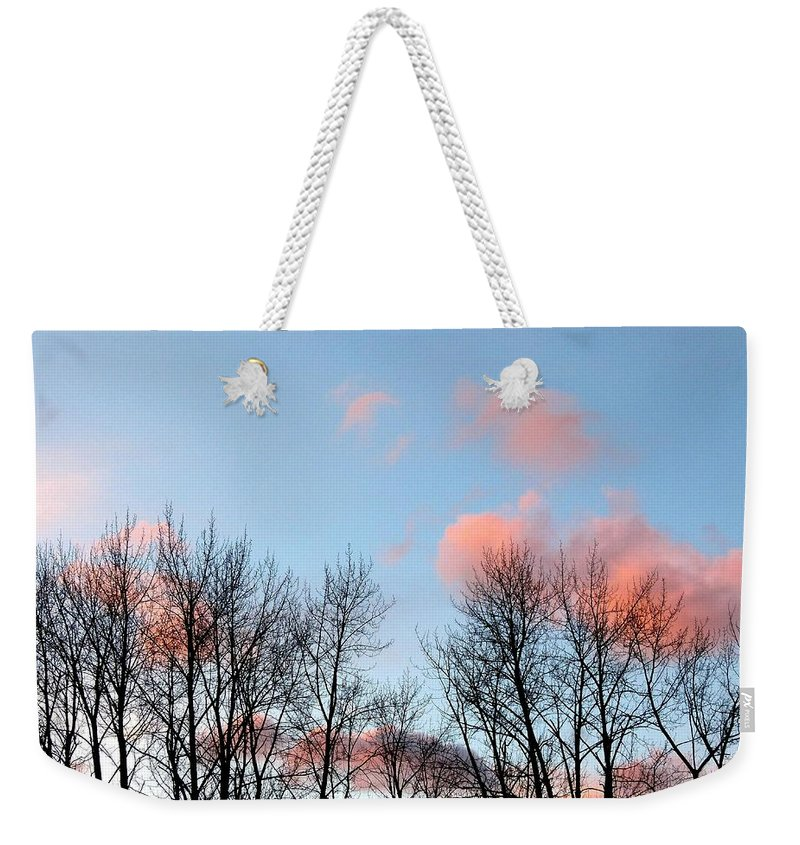 Cotton Candy Clouds Weekender Tote Bag featuring the photograph Cotton Candy Clouds by Will Borden