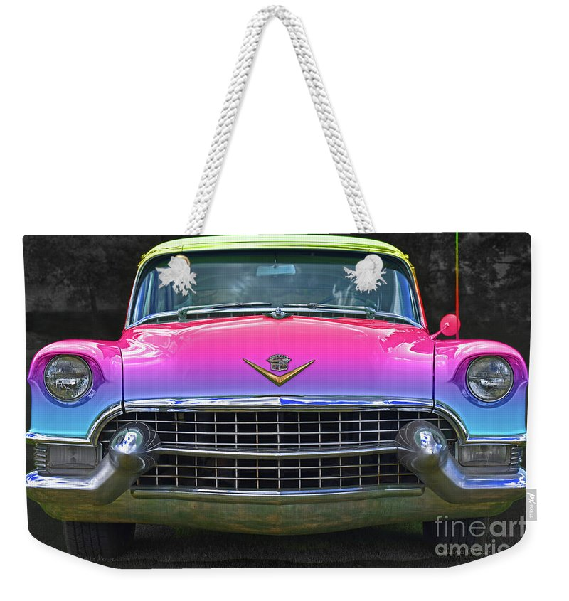 Cotton Candy Rainbow, Cadillac Flavours Weekender Tote Bag for Sale