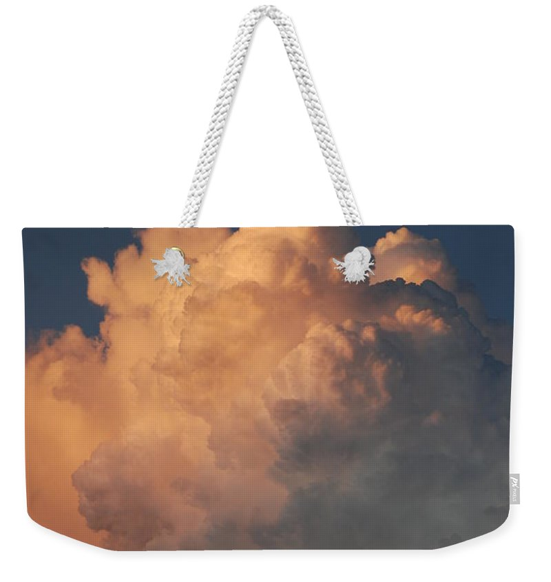 Clouds Weekender Tote Bag featuring the photograph Cottonballs by Rob Hans