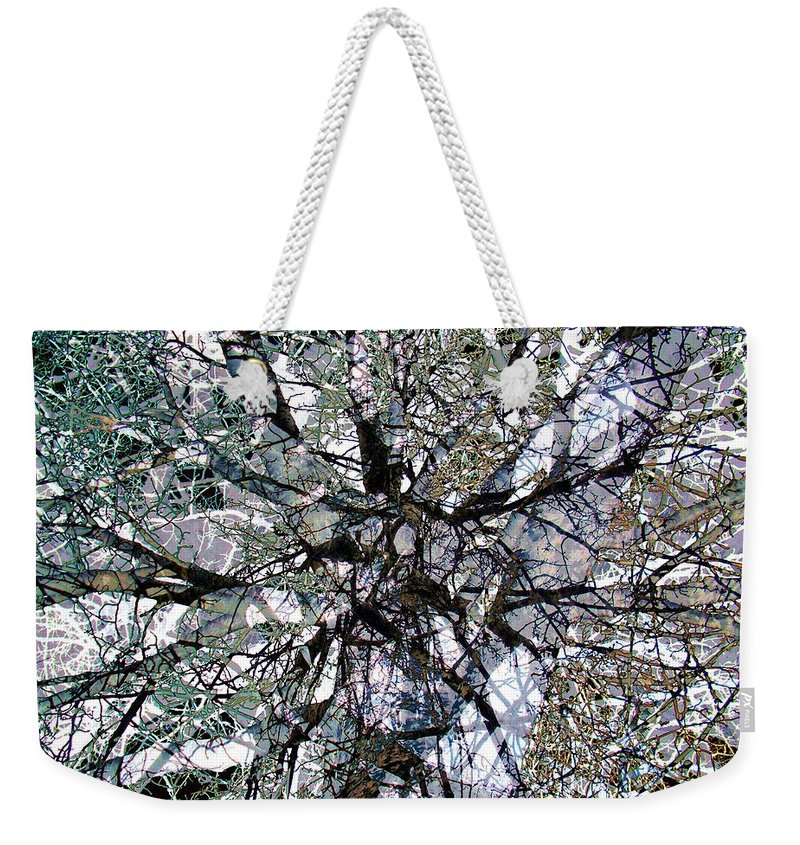 Cottonwood Weekender Tote Bag featuring the photograph Cottonwood Montage by Ron Bissett