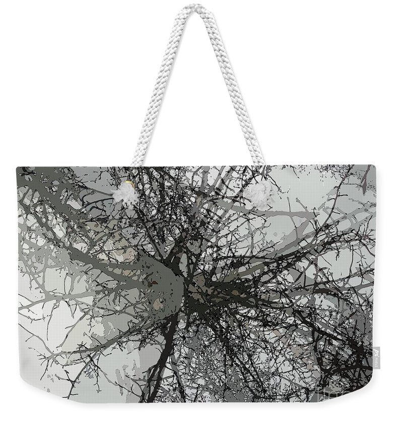 Cottonwood Weekender Tote Bag featuring the photograph Cottonwood Tree Montage by Ron Bissett