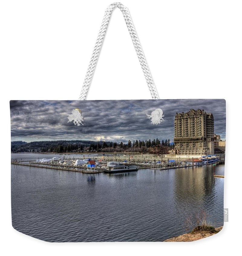 Landscape Weekender Tote Bag featuring the photograph Couer D'alene Resort 3 by Lee Santa