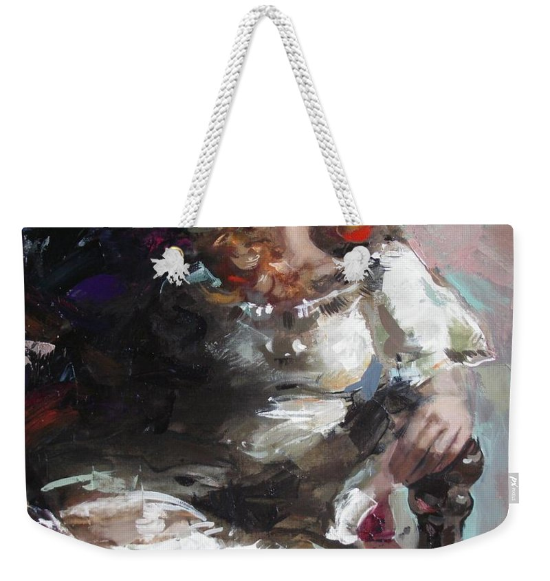 Ignatenko Weekender Tote Bag featuring the painting Countess by Sergey Ignatenko