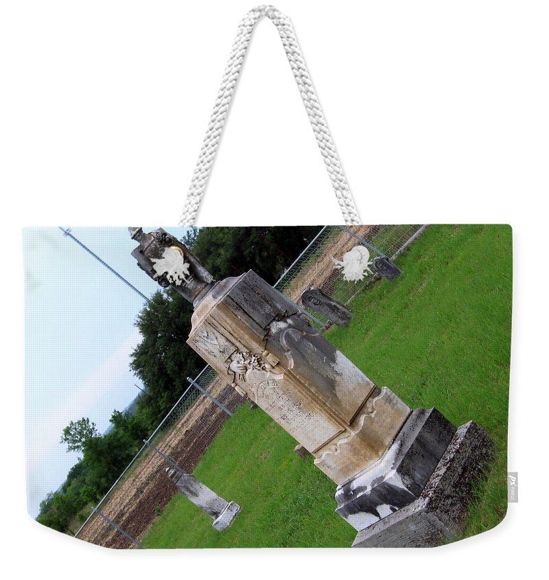 Cemetery Weekender Tote Bag featuring the photograph Country Cemetery by Amy Hosp