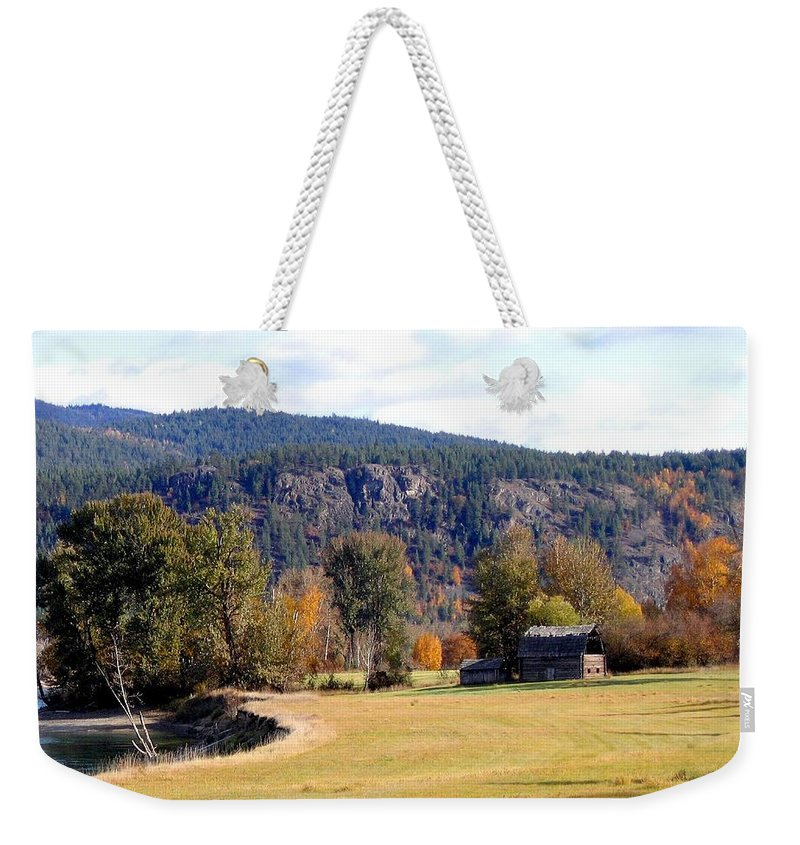 Barn Weekender Tote Bag featuring the photograph Country Charm by Will Borden