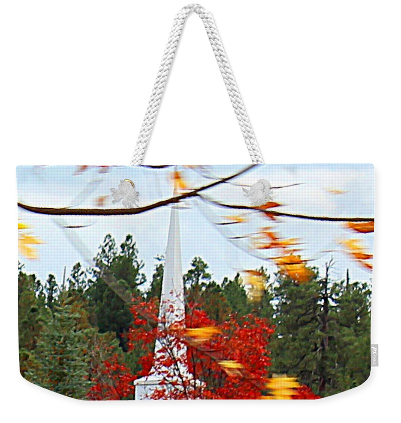 Fall Weekender Tote Bag featuring the photograph Country Church by Kume Bryant