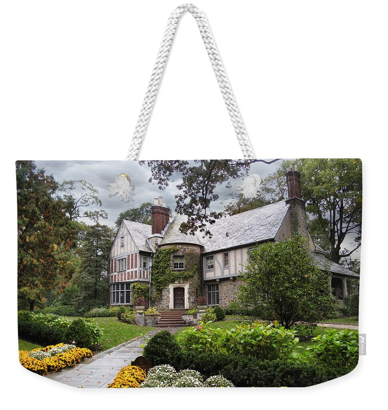 House Weekender Tote Bag featuring the photograph Country Cottage by Jessica Jenney