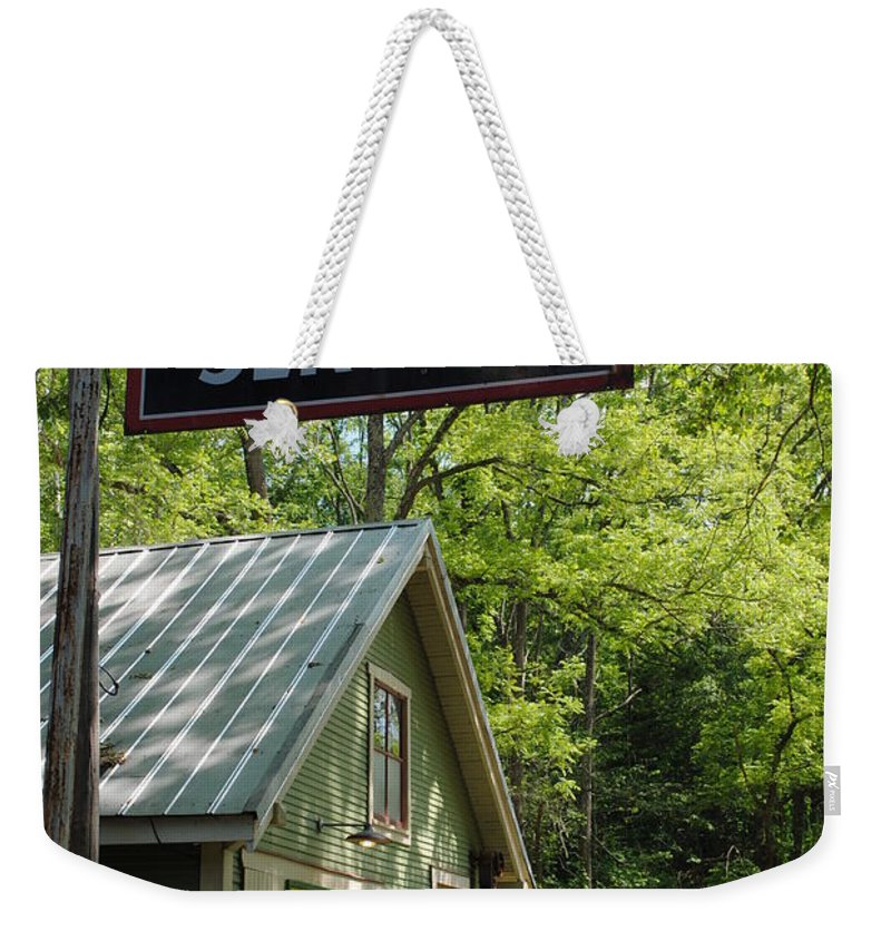 Standard Weekender Tote Bag featuring the photograph Country Gas by Jost Houk