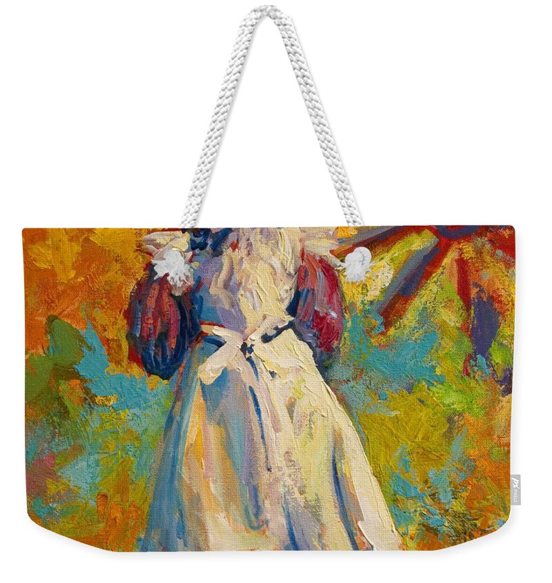 Figure Weekender Tote Bag featuring the painting Country Girl by Marion Rose