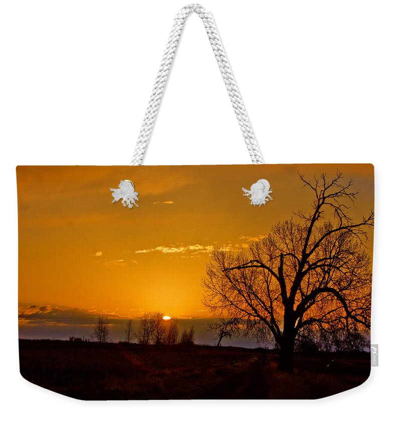 Sunrise Weekender Tote Bag featuring the photograph Country Golden Sunrise by James BO Insogna