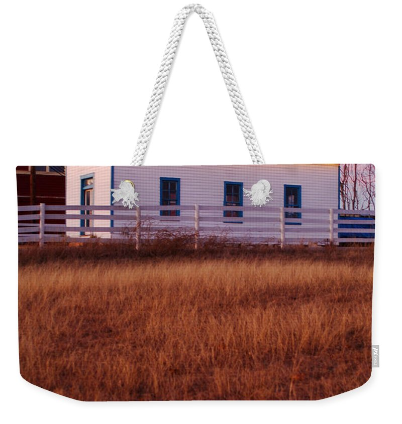 Country Weekender Tote Bag featuring the photograph Country House by Jill Reger