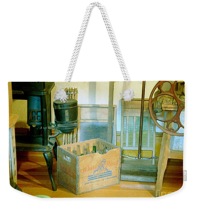 Kitchen Weekender Tote Bag featuring the painting Country Kitchen Sunshine II by RC deWinter