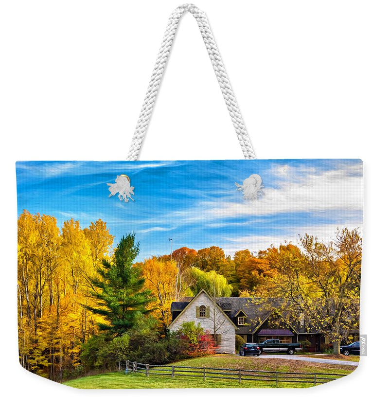 Steve Harrington Weekender Tote Bag featuring the photograph Country Living 2 - Paint by Steve Harrington