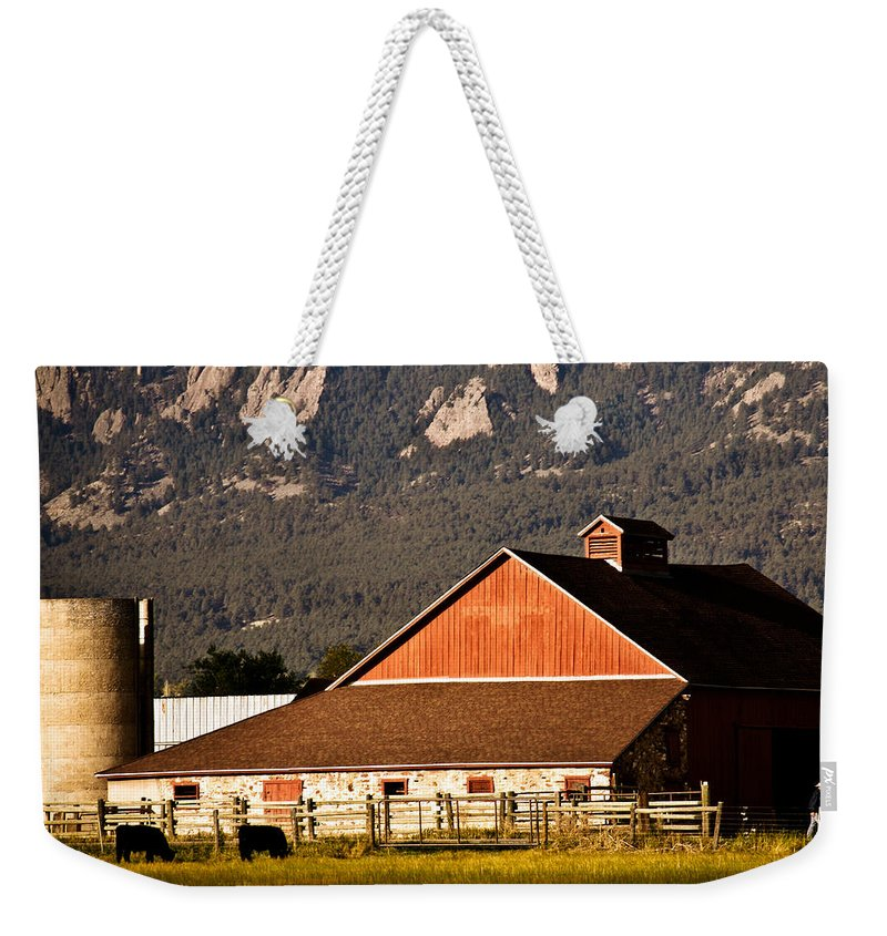 Americana Weekender Tote Bag featuring the photograph Country Living Boulder County by Marilyn Hunt