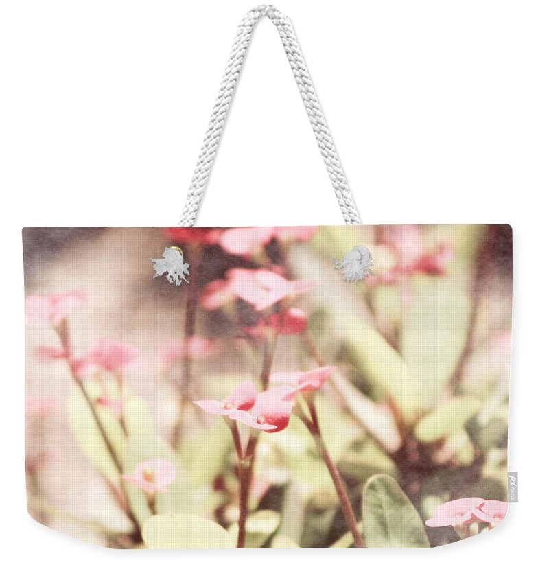 Prism Pink Weekender Tote Bag featuring the photograph Country Memories in Prism Pink by Colleen Cornelius