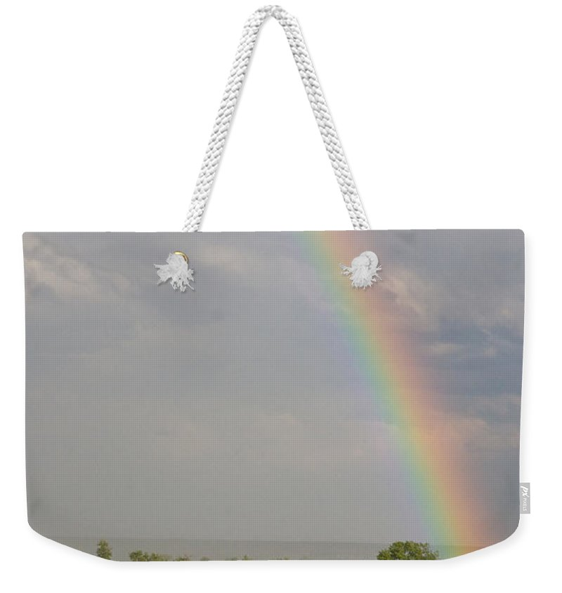 Rainbow Weekender Tote Bag featuring the photograph Country Rainbow by James BO Insogna