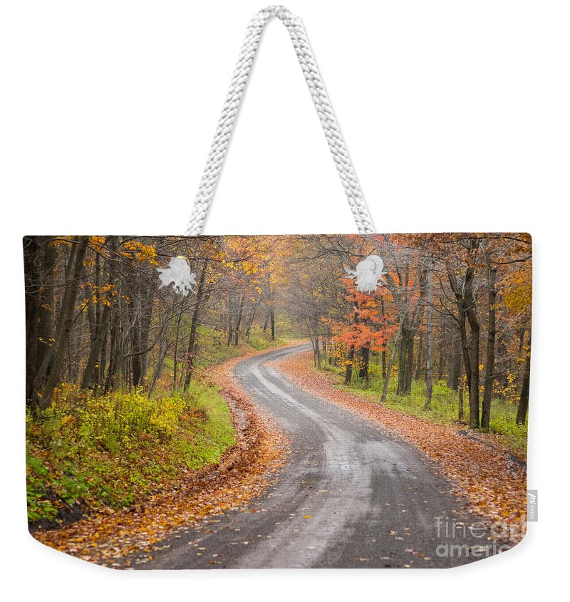 Blue Knob Weekender Tote Bag featuring the photograph Country Road by Brandon Hirt