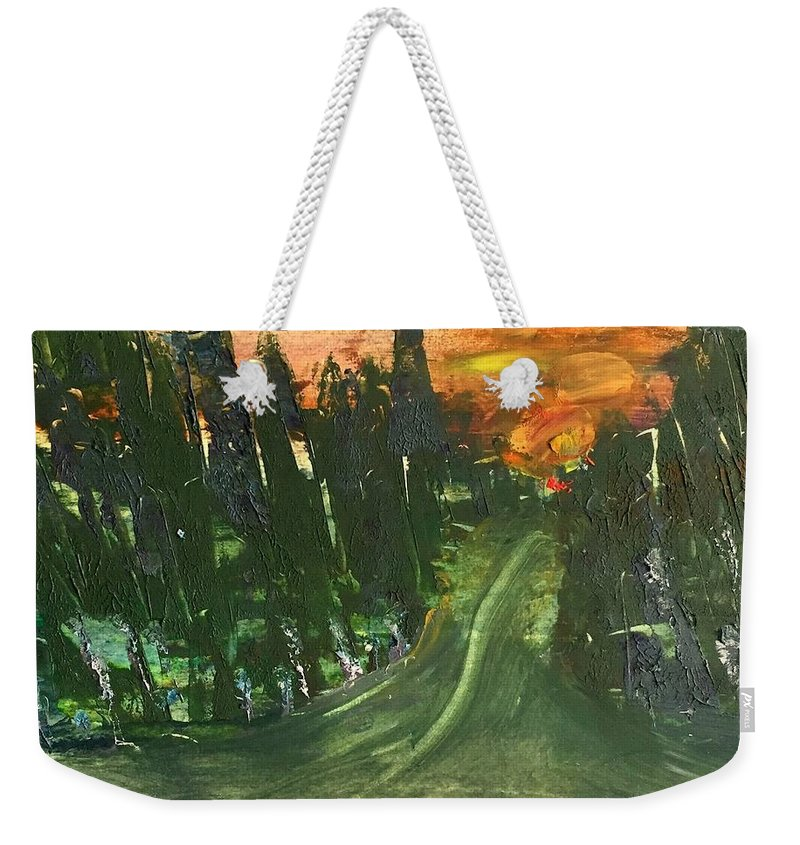 Weekender Tote Bag featuring the painting Country Road by Martha Dolan