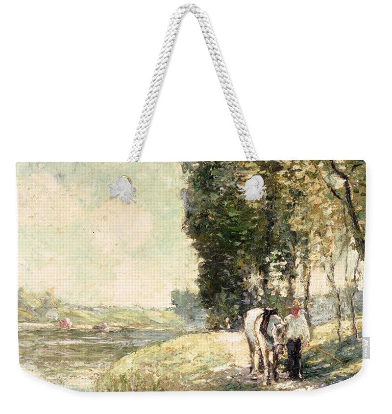 Country Road To Spuyten Weekender Tote Bag featuring the painting Country Road To Spuyten by Ernest Lawson
