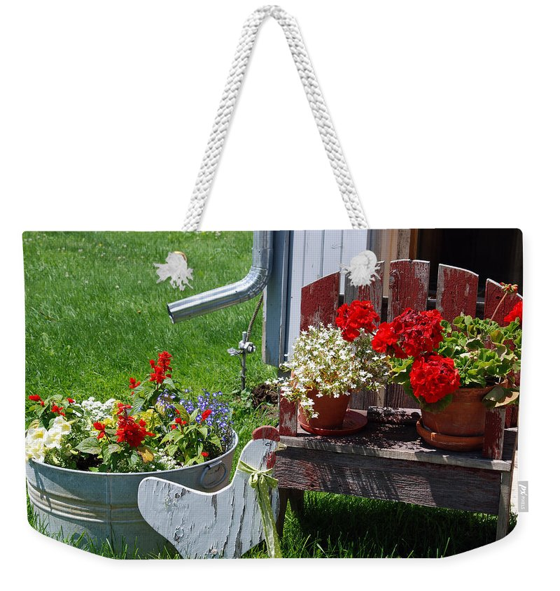 Flowers Weekender Tote Bag featuring the photograph Country Side by Susanne Van Hulst