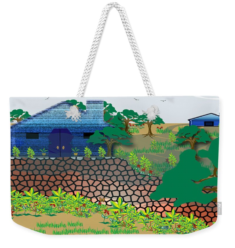 Countryside Weekender Tote Bag featuring the digital art Country Sky by Valerie Smith