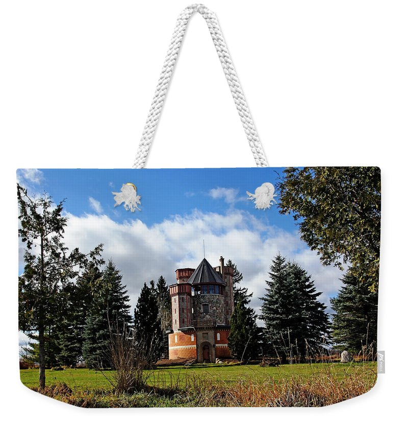 Silo Weekender Tote Bag featuring the photograph Countryside Castle by Debbie Oppermann