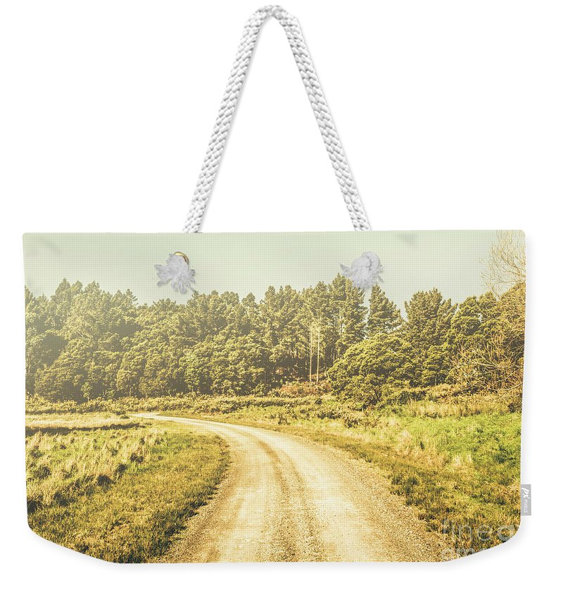 Australian Weekender Tote Bag featuring the photograph Countryside Road In Outback Australia by Jorgo Photography - Wall Art Gallery